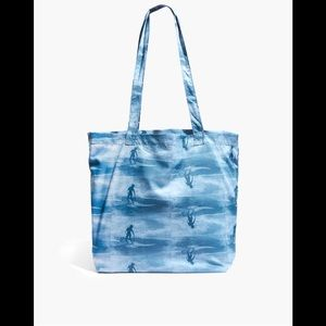 Madewell The Recycled Reusable Tote in Wave Rider